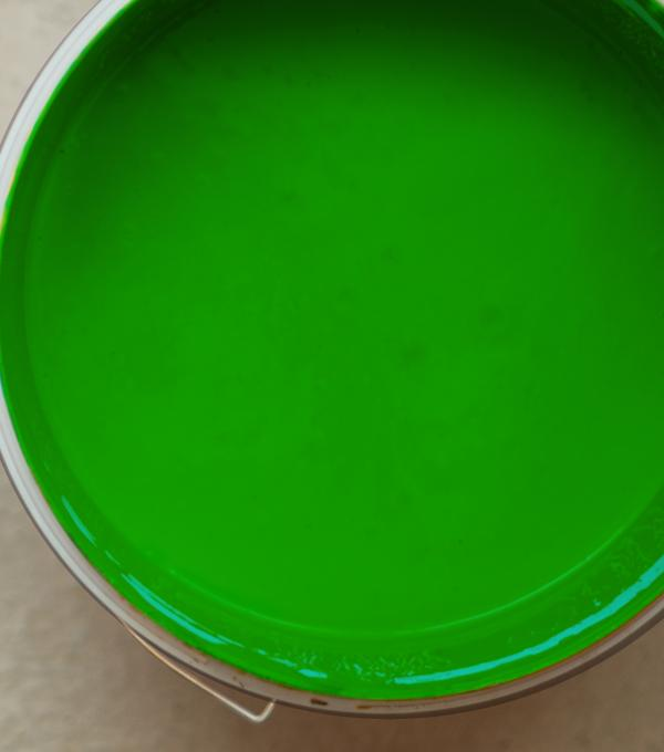 Bucket with green colour