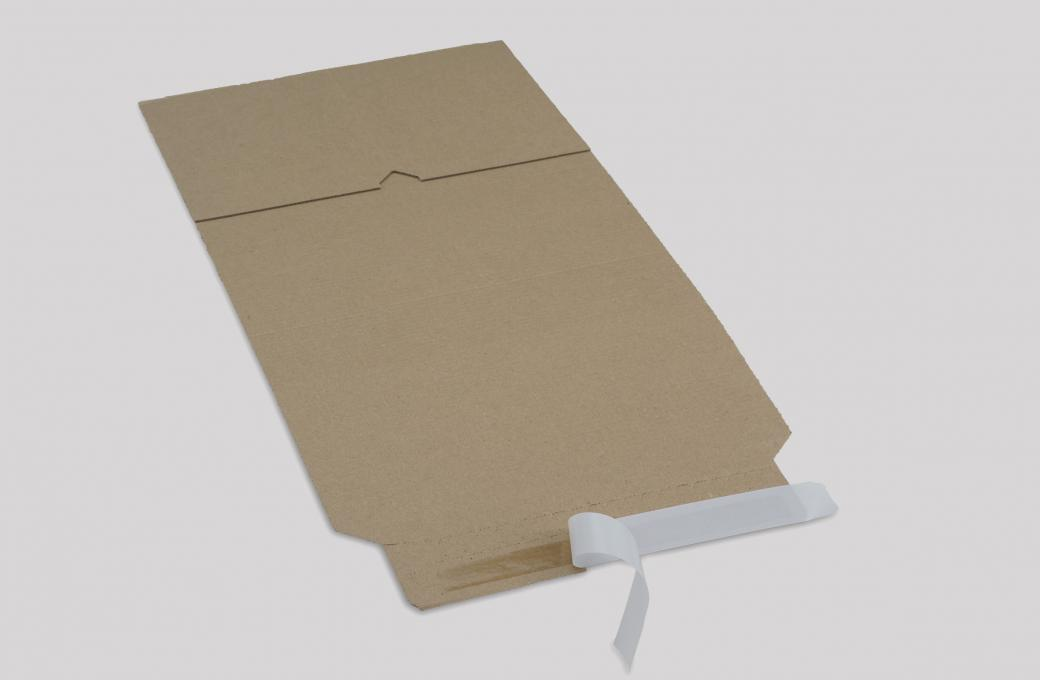 shipping packaging with adhesive tape