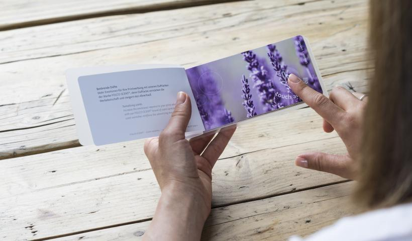 Scent book with scented fields